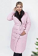 Зимнее стеганное пальто 37727 (48–54р) в расцветках, фото 1