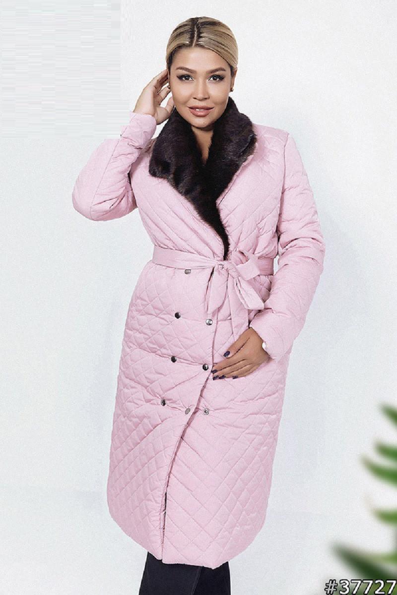 Зимнее стеганное пальто 37727 (48–54р) в расцветках