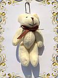 Мини плюшевый мишка 11 см (молочный), фото 2