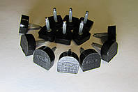 Набойки полиуретановые BISSELL, черн., р.609(13*15),шт.2,9мм.