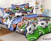 Комплект постельного белья подростковый Футбол Хлопок 100%