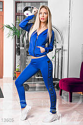 Синий спортивный костюм из дайвинга