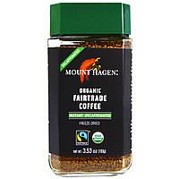 Mount Hagen, Organic-Café, без кофеина, вымороженный растворимый кофе, 3.53 унций (100 г) (Discontinued Item)