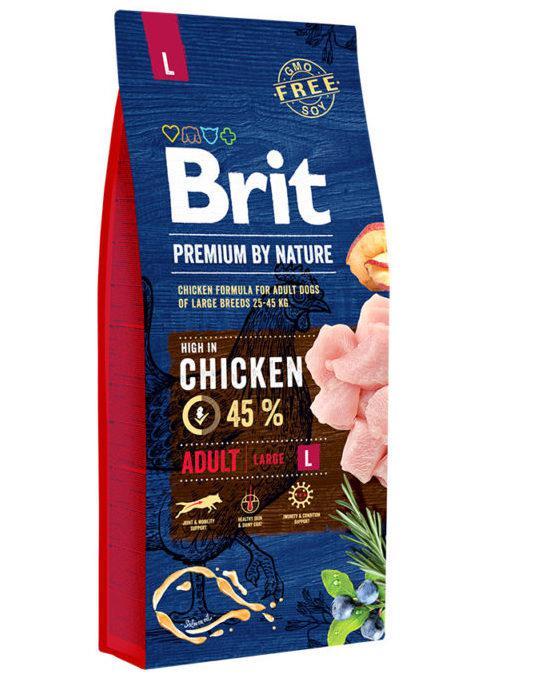 Brit (Брит) Premium Adult L сухой корм для взрослых собак крупных пород, 8 кг