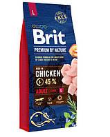 Brit (Брит) Premium Adult L корм для взрослых собак крупных пород, 15 кг