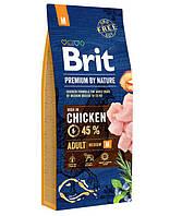 Brit (Брит) Premium Adult M корм для взрослых собак средних пород, 1 кг