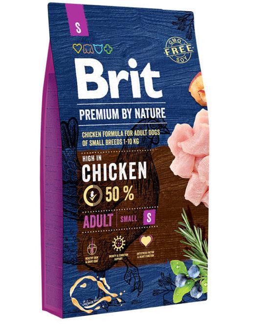 Brit (Брит) Premium Adult S сухой корм для взрослых собак маленьких пород, 8 кг