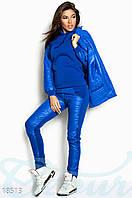 Яркий синий спортивный костюм тройка