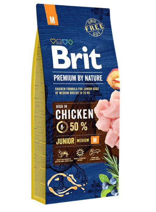 Brit (Брит) Premium Junior M корм для щенков и молодых собак средних пород, 3 кг