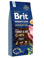 Brit (Брит) Premium Light Turkey & Oats корм для собак с избыточным весом, 15 кг
