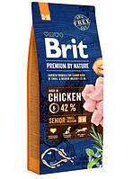 Brit (Брит) Premium Senior S+M корм для стареющих собак маленьких и средних пород, 1 кг
