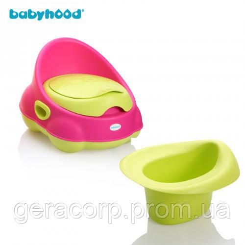 Горшок детский Babyhood BH-112 Розово-зеленный