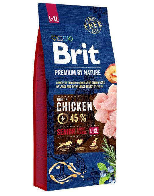Brit (Брит) Premium Senior L+XL корм для стареющих собак крупных и гигантских пород, 15 кг