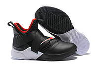 "Мужские баскетбольные кроссовки Nike Lebron Soldier 12 ""Bred"" Black University  Red-White 5ca330f0d61"