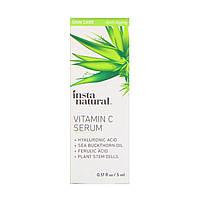 InstaNatural, Vitamin C Serum with Hyaluronic Acid + Ferulic Acid, Anti-Aging, 0.17 fl oz (5 ml)
