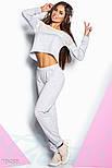 Светло-серый спортивный костюм с сеткой, фото 2