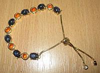 """Потрясающий  Браслет """"Фаир"""" со   звездчатыми  сапфирами и оранжевыми опалами от студии LadyStyle.Biz, фото 1"""