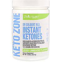 Divine Health, Кето-зона д-ра Кольберта, мгновенные кетоны, вкус ледяного лаймада, 262,5 г