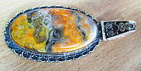 """Шикарный крупный серебряный кулон  с   яшмой шмелем """"Падишах""""  от студии LadyStyle.Biz, фото 1"""