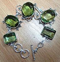 """Элегантный браслет с зеленым аметистом """"Весенний"""" от Студии  www.LadyStyle.Biz, фото 1"""