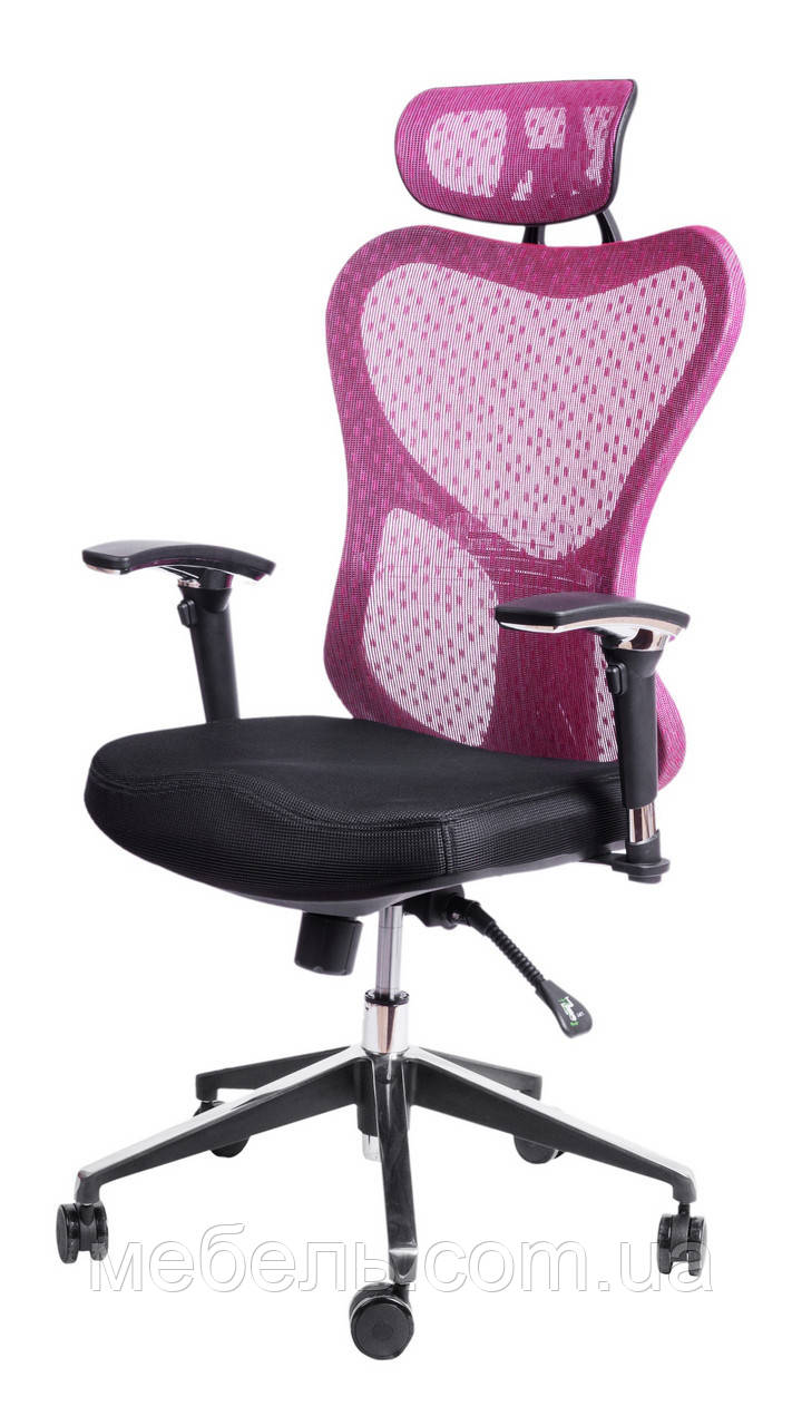 Детское компьютерное кресло Barsky Butterfly Black Fly-02 bordo