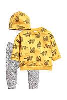 Комплект тройка H&M принт «Тигрята» комплект с шапочкой, футболкой и штанишками для мальчика 80 см, 92 см