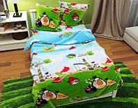 Комплект постельного белья подростковый Злые птички Хлопок 100%