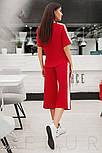 Свободный спортивный костюм красного цвета, фото 3
