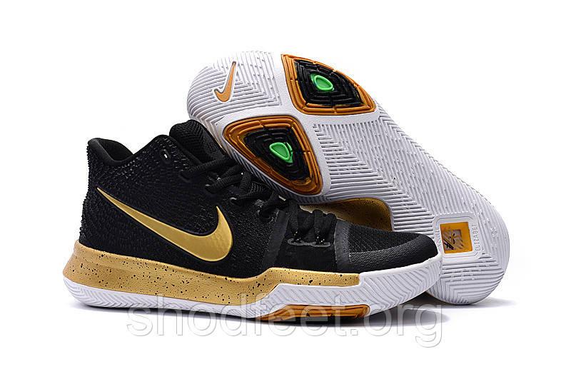 Женские кроссовки Nike Kyrie 3 EP Black Gold