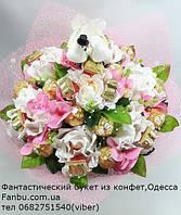 """Ручной букет из конфет для жениха и невесты """"Голуби на счастье""""№7+21, фото 1"""