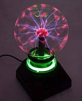 Плазма шар Теслы с подсветкой 12х12х19см (32166)