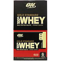 Optimum Nutrition, Gold Standard 100% Whey, Vanilla Ice Cream, 6 Packs, 1.09 oz (31 g) Each