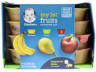Gerber, My 1st Fruits, Starter Kit, 1st Foods, Bananas, Pears, Apples, 8 Tubs, 1 oz (28.4 g) Each