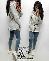 4ad4514c3f6 Кофта-парка женская теплая модная с капюшоном трехнитка Ssmil319