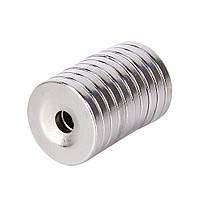 Неодимовый магнит. Диск 20х4,5 мм, отверстие 5 мм