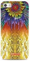 """Чехол Justcavalli """"Python Flower"""" для iPhone 4/4S, желтый (оригинал)"""
