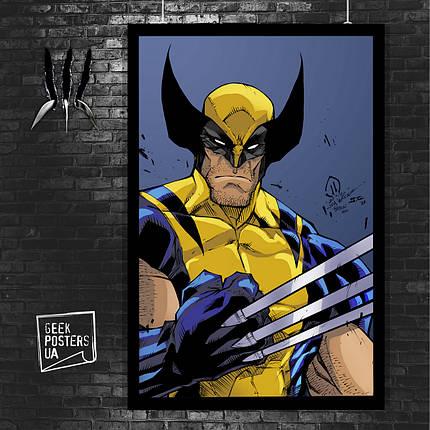 Постер Росомаха, Логан, комикс. Размер 60x42см (A2). Глянцевая бумага, фото 2