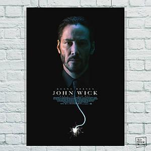 Постер John Wick, Джон Уик, горящий фитиль-галстук (60x85см)