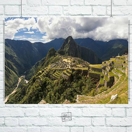 Постер Мачу-Пикчу, Перу. Machu Picchu. Размер 60x42см (A2). Глянцевая бумага, фото 2
