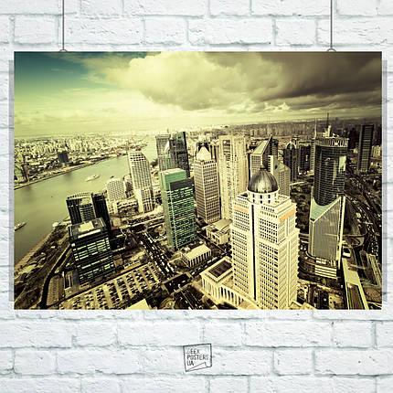 Постер Нью-Йорк с высоты. Размер 60x42см (A2). Глянцевая бумага, фото 2