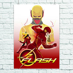 Постер Flash, Флэш. Размер 60x42см (A2). Глянцевая бумага
