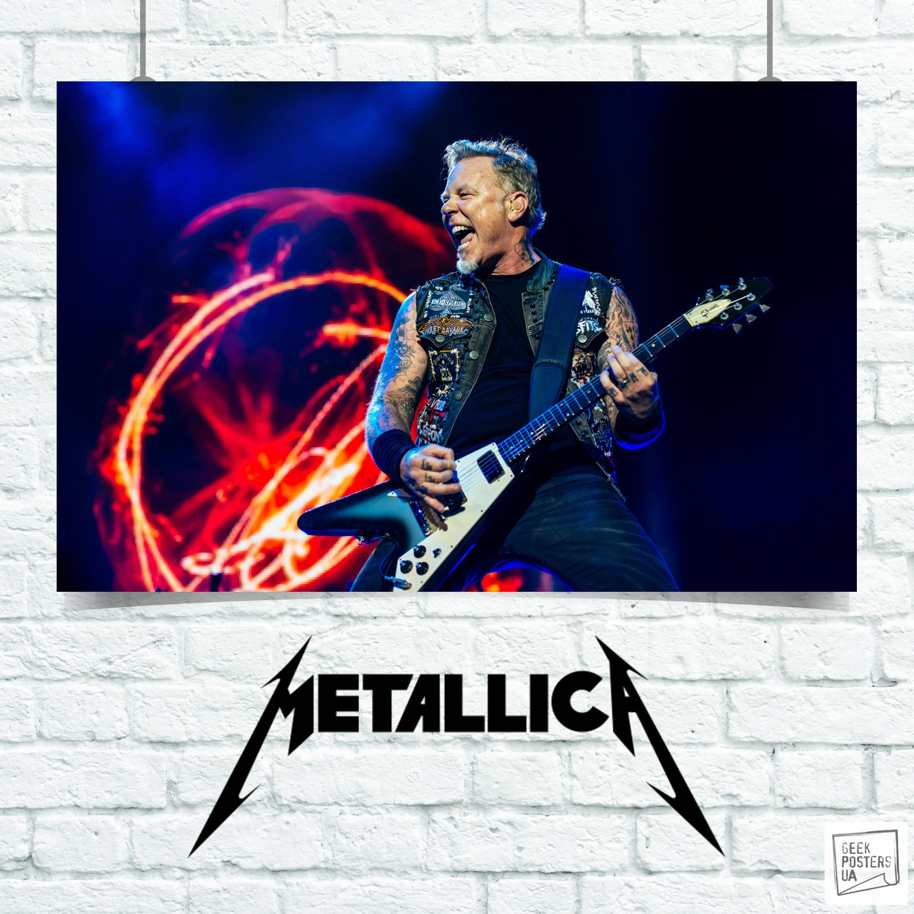 Постер Metallica, Металлика. Размер 60x42см (A2). Глянцевая бумага