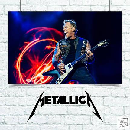 Постер Metallica, Металлика. Размер 60x42см (A2). Глянцевая бумага, фото 2