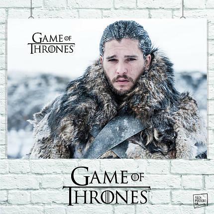Постер Джон Сноу, Игра Престолов, Game Of Thrones, GOT. Размер 60x42см (A2). Глянцевая бумага, фото 2