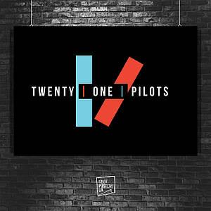 Постер Лого группы Twenty One Pilots, 21 Pilots (60x85см)