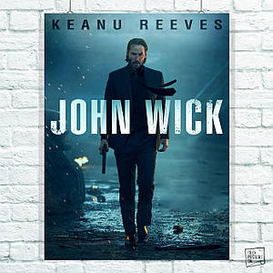 Постер John Wick, Джон Уик (60x80см)