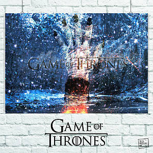 "Плакат ""Игра Престолов, GoT, Game of Thrones. Коллаж"", сериал. Размер 60x42см (A2). Глянцевая бумага"