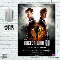 Постер Day of the Doctor. Доктор Кто. Dr.Who. Размер 60x42см (A2). Глянцевая бумага