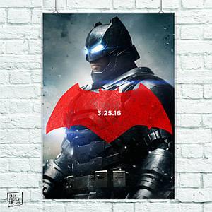 Постер Бэтмен в броне. Batman. Размер 60x42см (A2). Глянцевая бумага