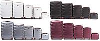 Комплект дорожніх валіз WINGS 402 Exlusive з полікарбонату 5 в 1, фото 1